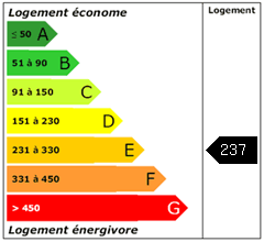 Consomation énergie : 237